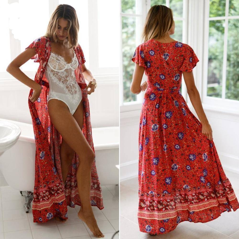 Bohemian Maxi Long Summer Dresses Beach Essentials Beach Wears Beach dresses Travel Fashion Dresses Beach fashion