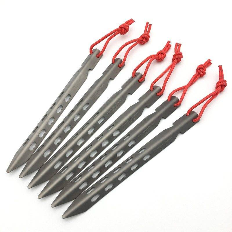 Ultralight Titanium Pegs for Outdoor Camping Hiking and Camping Camping tools Camping accessories