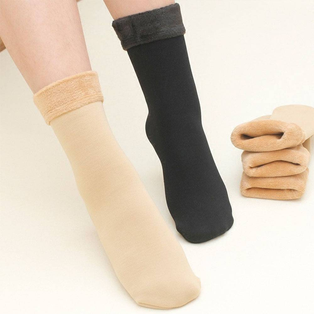 1 Pair Sleeping Wear Christmas Velvet Socks Thicken Keeping Warm Unisex Boots One Size Seamless Thermal Wool Leg Warmer Accessories