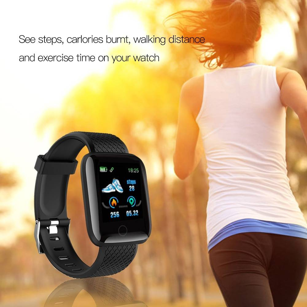 116Plus Smart Bracelet Intelligent Watch Fitness Tracker Step Counter Heart Rate Monitor Sport Smart Wristband Watch Smart Band