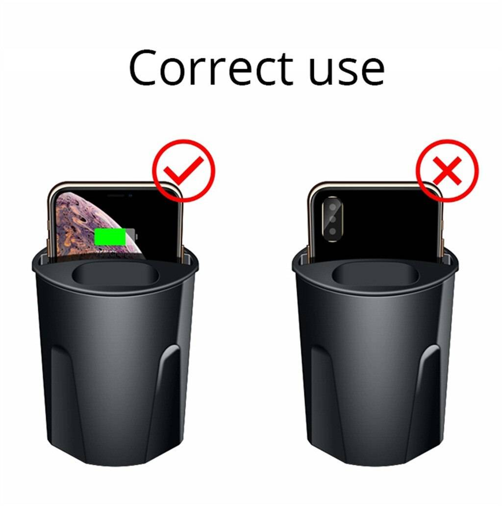Car Wireless Charger 3 in 1 For IPhone 11 10W Wireless Charger Cup with USB for iPhone 11/Pro/Pro Max for Airpods 2th