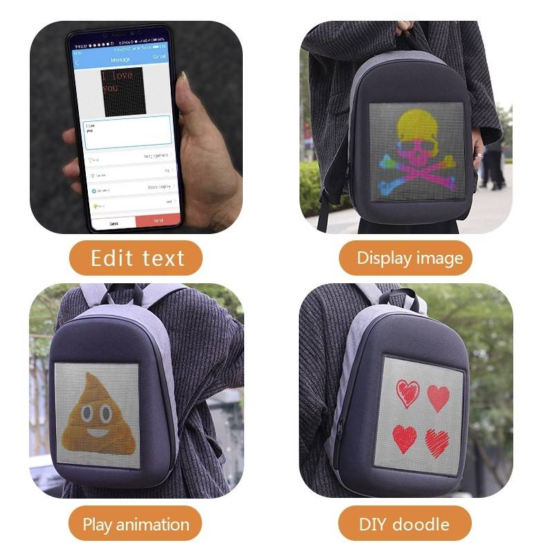 Smart LED Backpack Travel & Outdoor Backpack & Organizers Trendy Backpacks